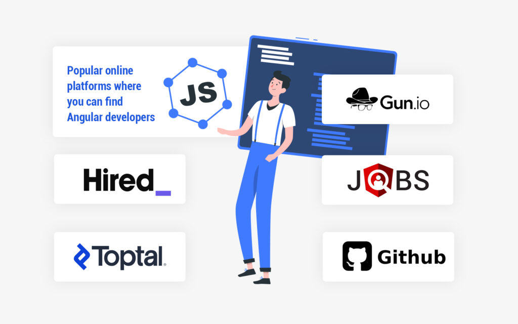Popular online platforms where you can find Angular developers for hire
