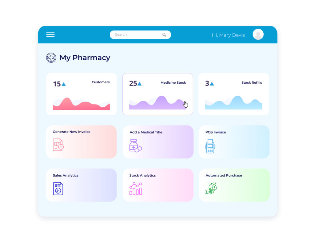 Pharmacy Management Software Interface