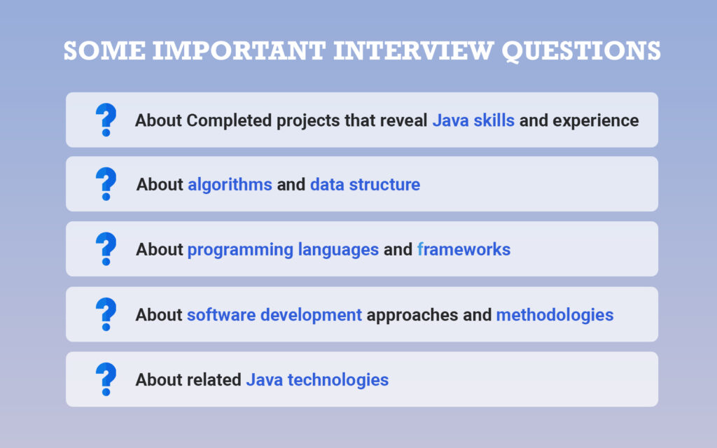 important interview questions to ask your Java developer