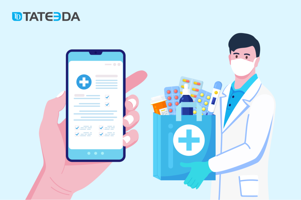 E-prescriptions software: patients can review their upcoming orders or refills via a web or mobile access portal