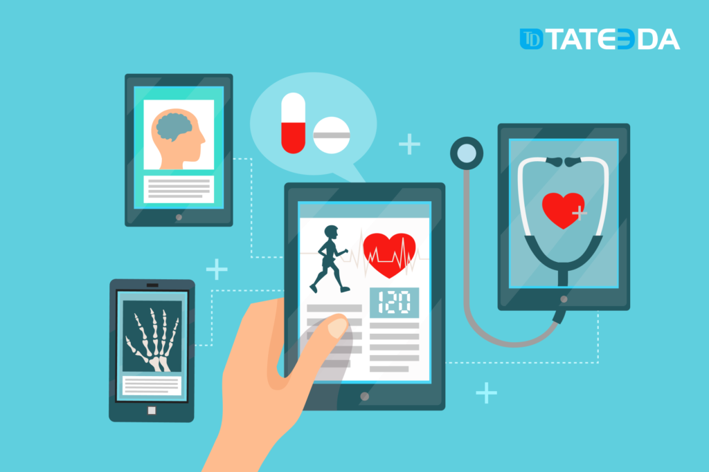 Telehealth applications with video-conferencing and remote patient health-monitoring features allow patients and their care providers to cooperate despite a distance between them.