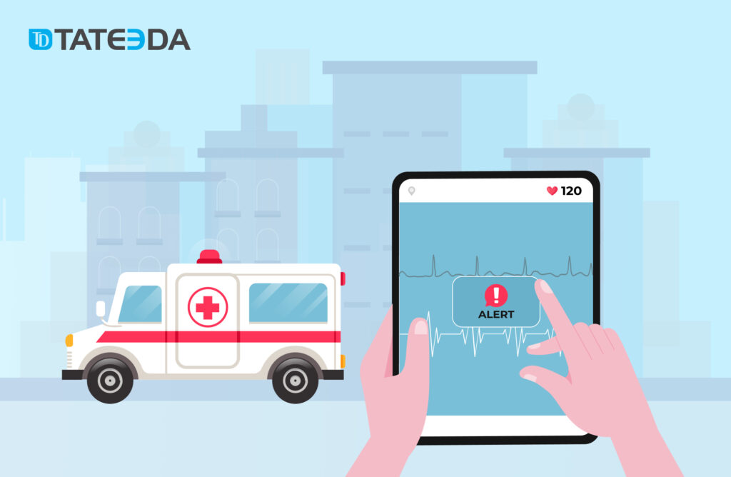 Remote ECG-monitoring software can automatically alert the medical supervisor or an emergency crew.