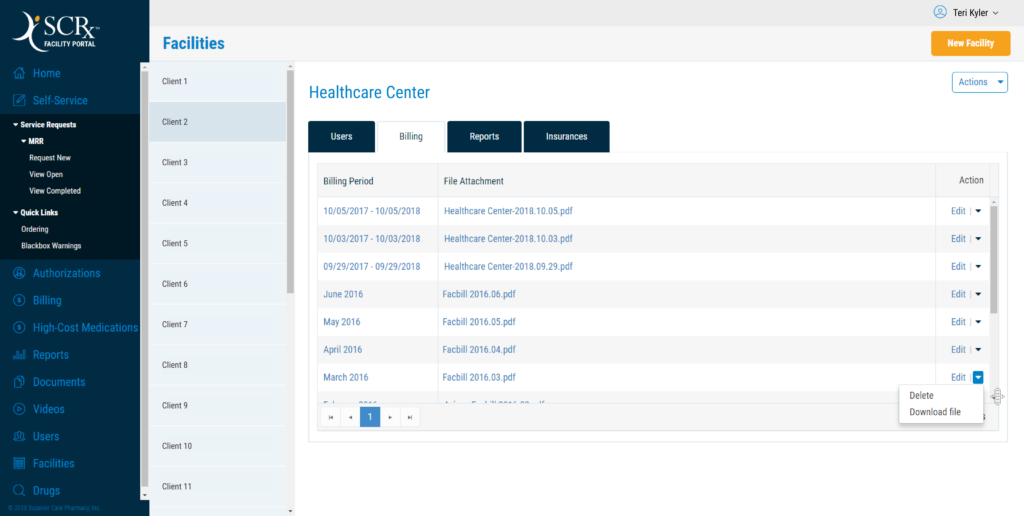 Pharmacy claim processing system with automated PDF-scanning (OCR) feature. It was programmed to look for certain combinations of keywords and prices.